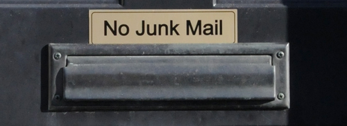 no junk mail collage photo by Franke James