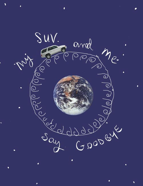 SUV and Me cover drawing by Franke James from 2007 To My Future Grandkids essay