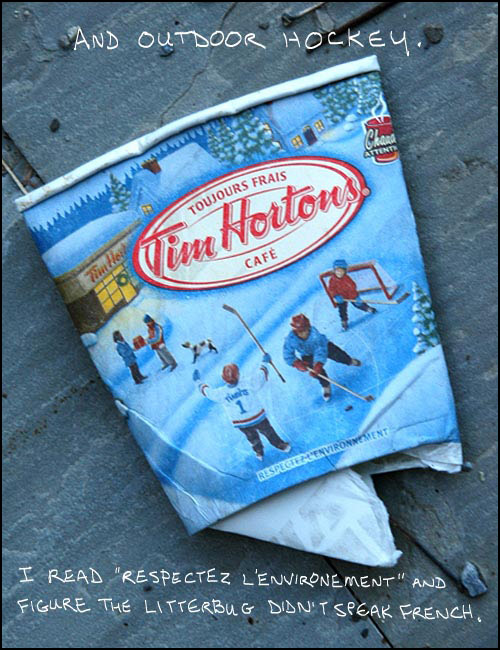 Tim Hortons cup Photo-illustration copyright Franke James 2007