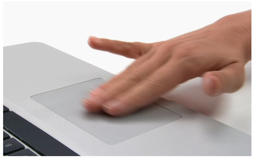screen shot of Mac trackpad demo