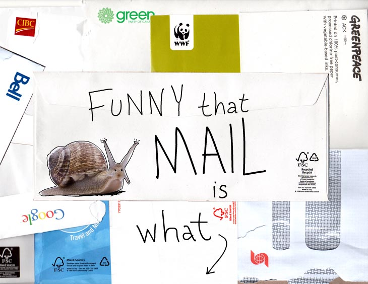 Funny that snail mail is what woke me photo illustration by Franke James