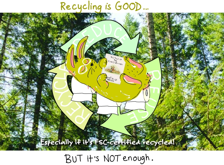 Recycling is good but it is not enough drawing by Franke James