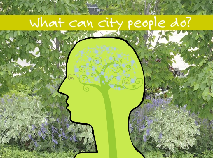 What can city people do, illustration by Franke James