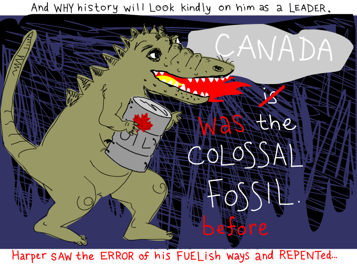 canada was a colossal fossil