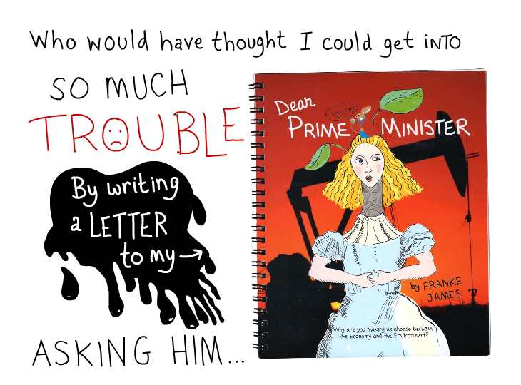 trouble for writing by Franke James