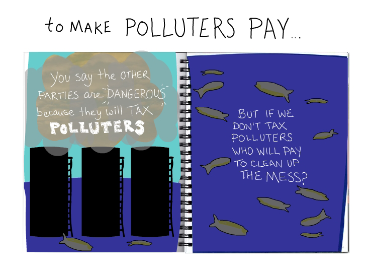 polluters must pay illustration by Franke James