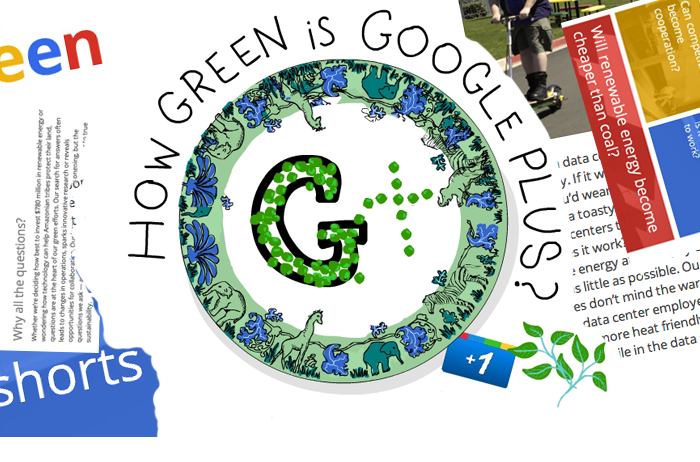 illustration of G+ by Franke James with collaged elements