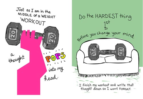 Do the hardest thing first by illustration by Franke James