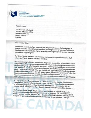 TWUC letter