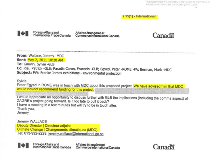 CanadaS Climate Change Office Secretly Killed Approval For Franke