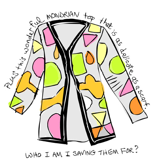 illustration of mondrian type top by franke james 2008