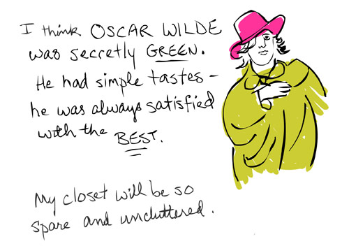 illustration of oscar wilde by franke james 2008