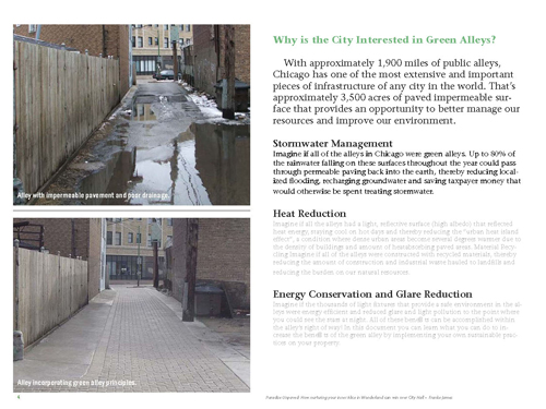 Chicago green alleys project cited in University of Cincinnati lecture by Franke James