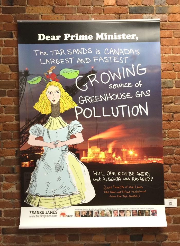 DearPM Alice in the tar sands Poster Franke James