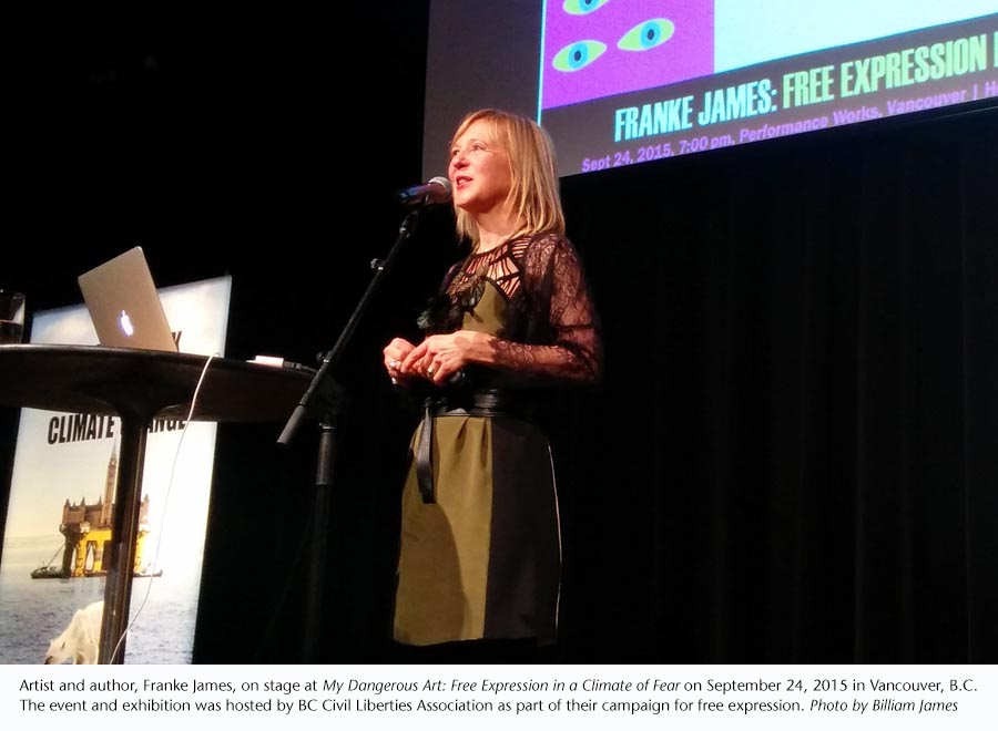Photo of Franke James by Billiam James, Sept 24, 2015 at BCCLA event
