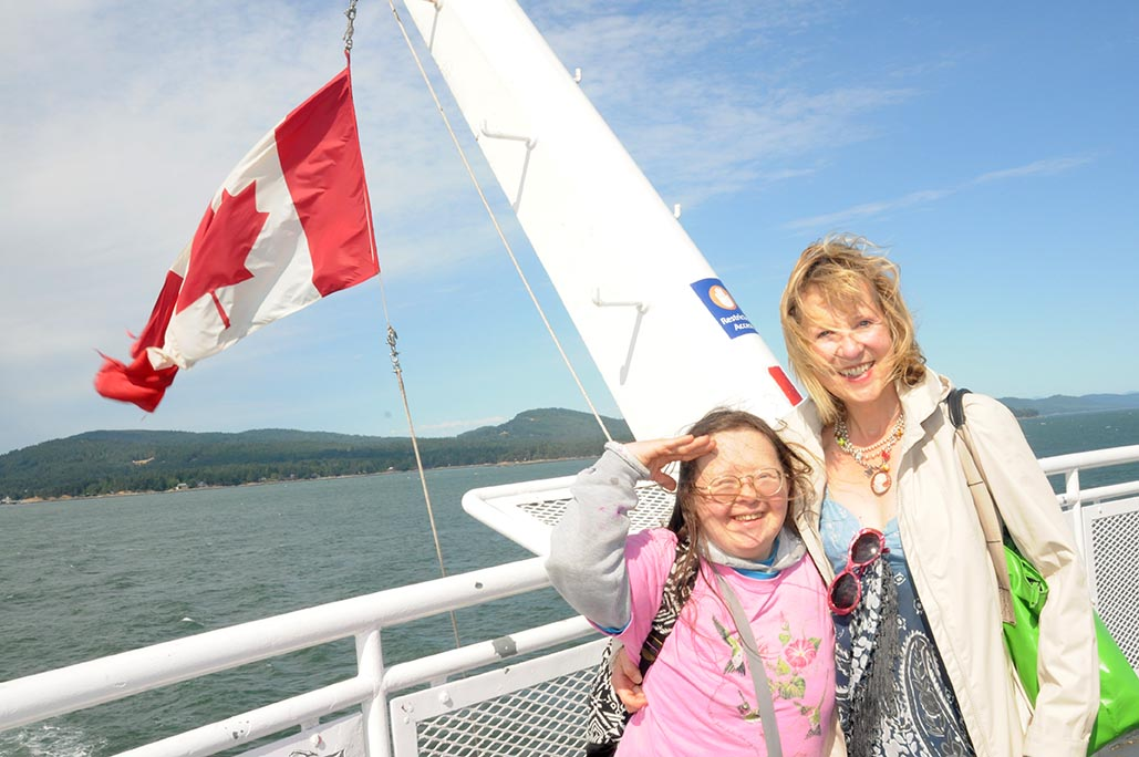 Teresa Pocock and Franke James on the BC ferry June 2015