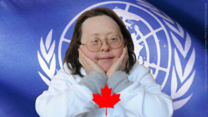 UN Flag by Stockbyte licensed from Getty Images. Photo of Teresa Pocock by Franke James