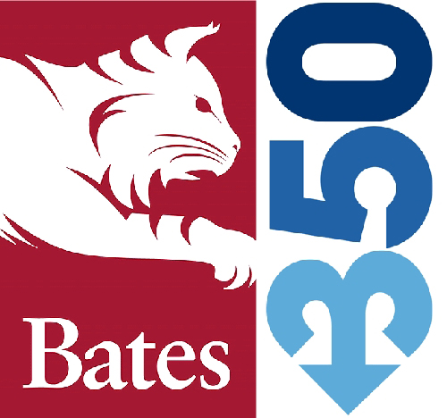 credit: Bates College bobcat logo and 350.org logo pointing down to show that we want CO2 emissions to go down;